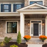 Plowman Ridge custom home front door