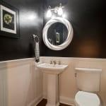 Plowman Ridge custom home powder room