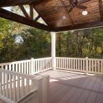 Plowman Ridge custom home back porch