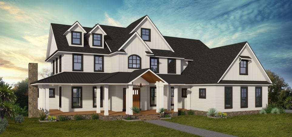 FoxBuilt Glendale Estates model home rendering