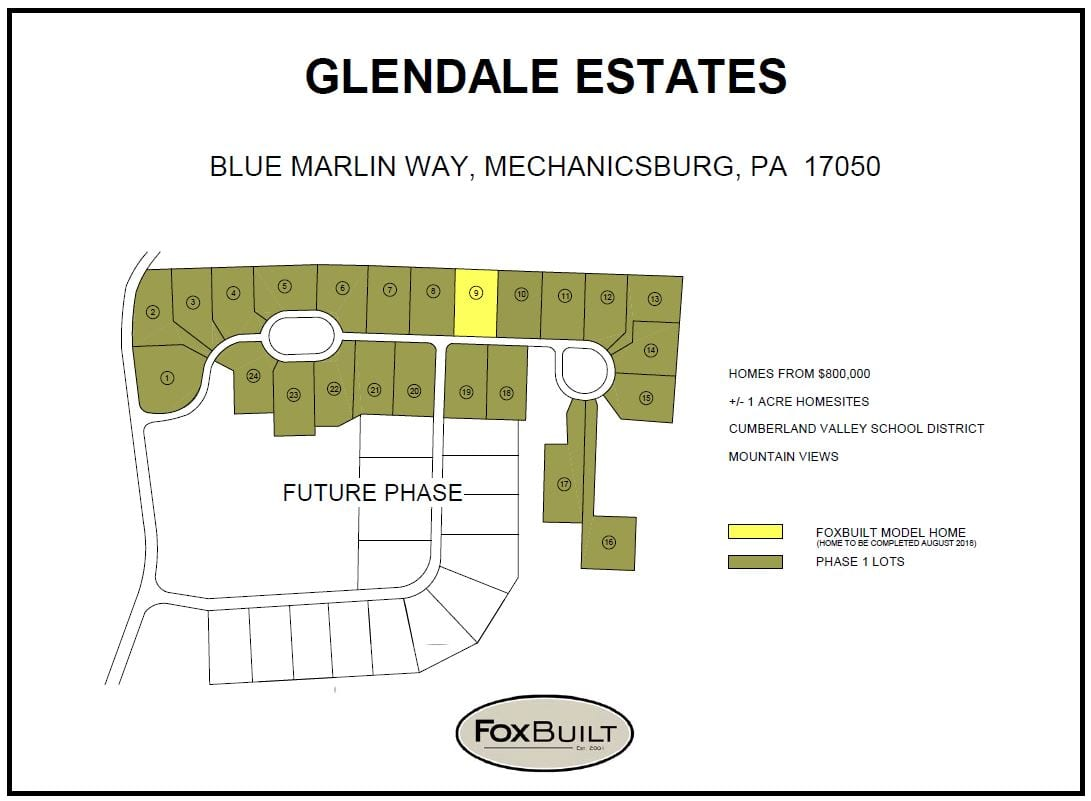 glendale-estates-plot-plan